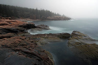 Fog At Acadia National Park Print by Juergen Roth