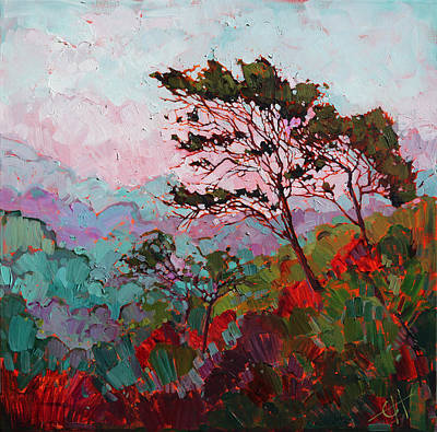 Los Angeles Landscape Painting - Fog At Griffith by Erin Hanson