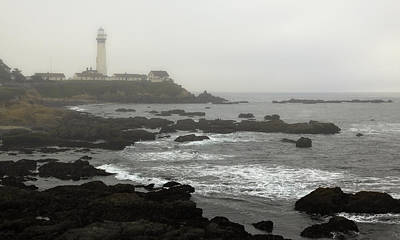 Photograph - Fog At Pigeon Point Light by Harold Rau