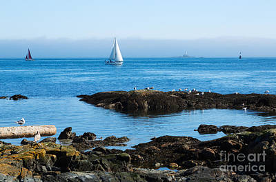 Fog Bank In The Strait Of Juan De Fuca Art Print