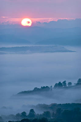 Photograph - Fog Below Droop Mountain by Michael Blanchette