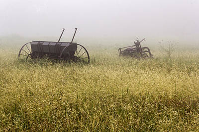 Photograph - Fog Covered Field by Dana Moyer