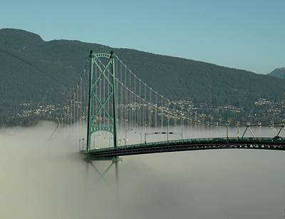 Photograph - Fog Engulfing The Lion's Gate Bridge by Brian Chase