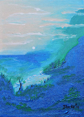 Painting - Fog Fades Into The Dawn by Donna Blackhall