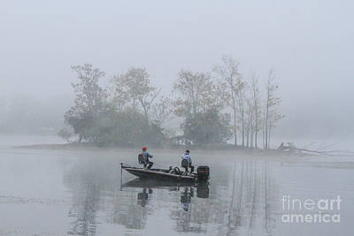 Art Print featuring the photograph Fog Fishing by Geraldine DeBoer