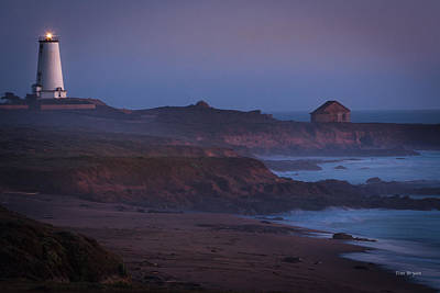 Photograph - Fog Forming Over Piedras Blancas....  San Simeon by Tim Bryan
