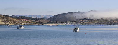 Fog Hovering Over San Luis Obispo Bay Art Print