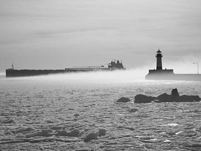 Duluth Photograph - Fog In Duluth by Alison Gimpel