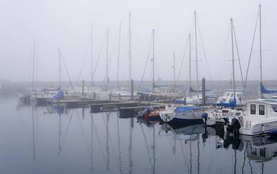 Fog In Marina I Art Print