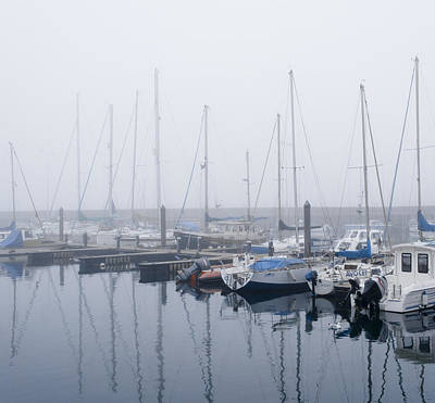 Anstruther Photograph - Fog In Marina Iv by Elena Perelman