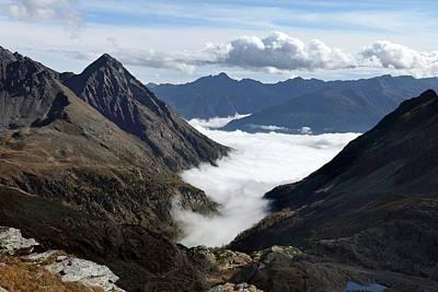 Goldberg Photograph - Fog In Mountain Valley by Martin Rietze