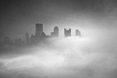 Fog In Pittsburgh  Art Print by Emmanuel Panagiotakis