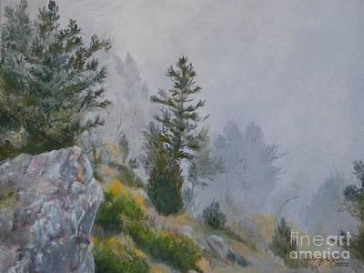 Gallatin Painting - Fog In The Bridger Mountains by M McCall