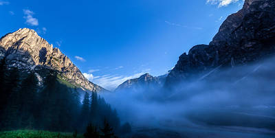 Photograph - Fog In The Dolomites by Charles Lupica