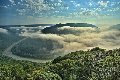 Photograph - Fog In The Grand View Valley by Adam Jewell