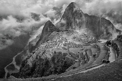 Peru Photograph - Fog In The Machu Picchu by Richard Huang