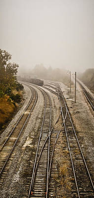 Photograph - Fog In The Rail Yard 2a by Greg Jackson