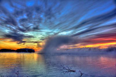 Photograph - Sunrise Fog At Sugar Creek On Lake Oconee by Reid Callaway