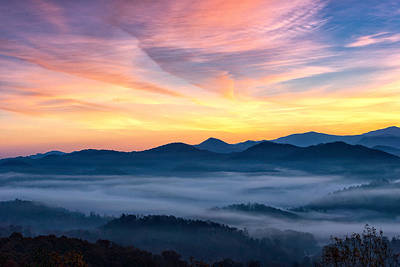 Fog In The Valley Art Print