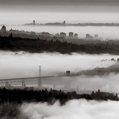 Photograph - Fog Lanes by R J Ruppenthal
