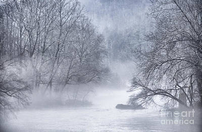 Fog On Gauley River Art Print