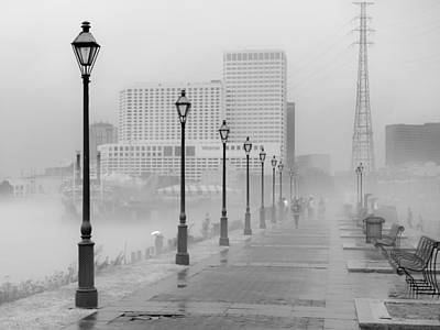 Photograph - Fog On The Levee by Scott Rackers