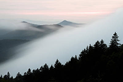Fog On The Mountain Art Print by Bill Swindaman