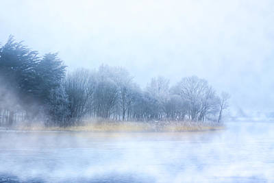 River Corrib Photograph - Fog On The River Corrib In Galway Ireland by Mark E Tisdale