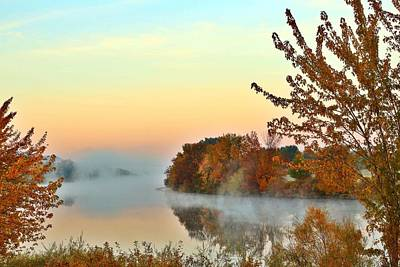 Art Print featuring the photograph Fog On The River by Lynn Hopwood
