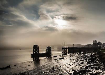 Fog On The River Medway Art Print