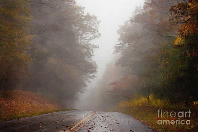 Digital Art - Fog On The Road by Lena Auxier
