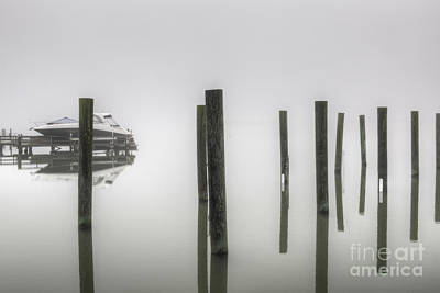 Photograph - Fog On The Wando River by Dale Powell