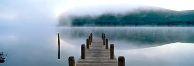 Marys Photograph - Fog Over A Lake, St. Marys Loch by Panoramic Images