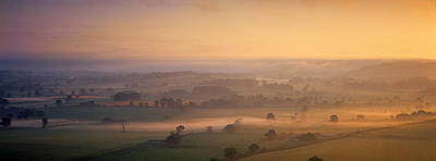 Vale Photograph - Fog Over A Landscape, Blackmore Vale by Panoramic Images