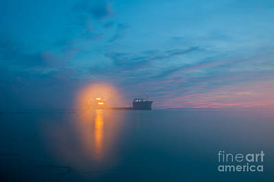 Photograph - Fog Over Charleston Harbor by Dale Powell
