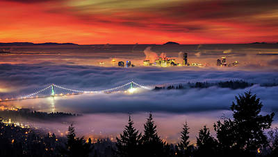 Photograph - Fog Over Downtown Vancouver by Alexis Birkill