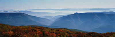 Autumn Scene Photograph - Fog Over Hills, Dolly Sods Wilderness by Panoramic Images