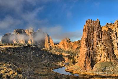 Redmond Photograph - Fog Over Smith Rock by Adam Jewell