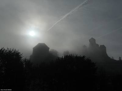 Photograph - Fog Over The Old Roman Empire Castle by Shan Peck