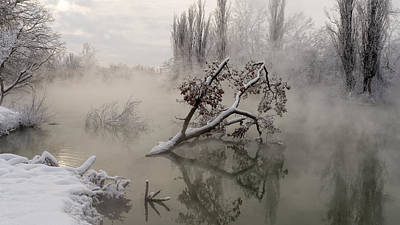 Frost Photograph - Fog Over The Water by Alexander Plekhanov