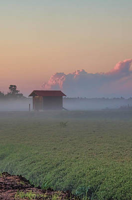 Photograph - Fog Rolling Over The Bogs At Sunset by Beth Sawickie