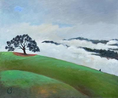 Fog Spilling In Art Print