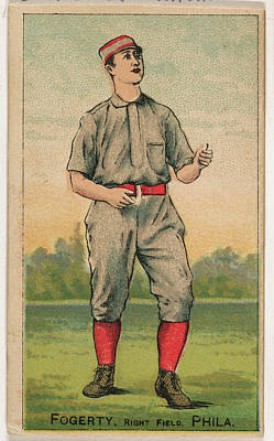 Baseball Cards Drawing - Fogerty, Right Field, Philadelphia by D. Buchner & Co., New York