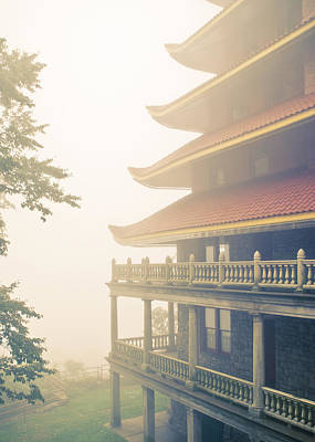 Photograph - Foggy At The Reading Pagoda by Trish Tritz