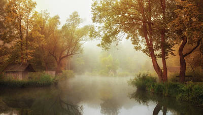 Dreamlike Photograph - Foggy Autumn by Leicher Oliver