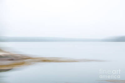 Digital Art - Foggy Bay 1 by Susan Cole Kelly Impressions