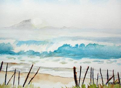 Painting - Foggy Beach by Carlin Blahnik