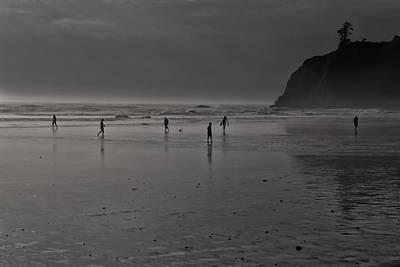 Photograph - Foggy Beach by Thomas Hall
