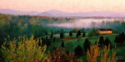 Foggy Blue Ridge Morning Art Print