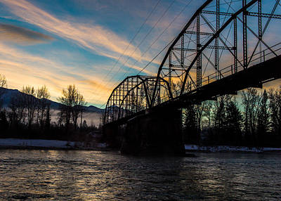 Montana Landscapes Photograph - Foggy Bottom Bridge by Aaron Aldrich